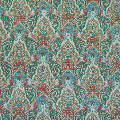 B5081 Cyprus Fabric: D49, GREEN AND RED, TEAL AND RED, RED AND TURQUOISE, RED AND GREEN, TEAL AND RED PRINT, GREEN AND RED PRINT, PRINTED LINEN, LINEN PRINT