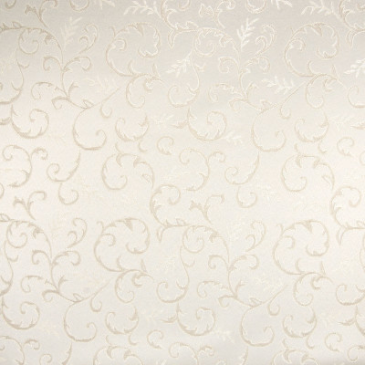 B5312 Sand Fabric: D50, SMALL SCALE SCROLL, SMALL SCALE FOLIAGE, IVORY, CREAM, DAMASK, TONE ON TONE, NEUTRAL
