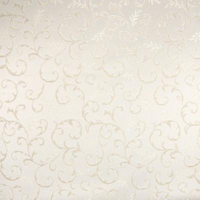 B5312 Sand Fabric: D50, SMALL SCALE SCROLL, SMALL SCALE FOLIAGE, IVORY, CREAM, DAMASK, TONE ON TONE