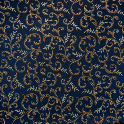 B5331 Baltic Fabric: D50, DARK BLUE SCROLL, DARK BLUE FOLIAGE, INDIGO, MIDNIGHT BLUE, NAVY BLUE DAMASK