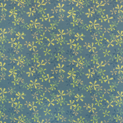 B5366 Cornflower Fabric: D53, DURABLE, PERFORMANCE, TEAL AND GREEN, LIME GREEN, FLORAL CONTRACT, FLOWER PATTERN, GREEN AND BLUE CONTRACT, MULTI COLORED CONTRACT