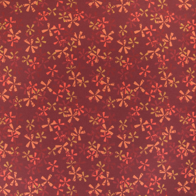 B5379 Rose Fabric: D53, DURABLE, PERFORMANCE, RED FLORAL, FLORAL CONTRACT, RED AND ORANGE FLOWERS,