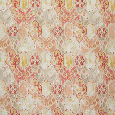 B5787 Adobe Fabric: D58, TUSCAN ORANGE MEDALLION PRINT, WATER COLOR INSPIRED, WATERCOLOR INSPIRED IKAT PRINT, ADOBE PRINT