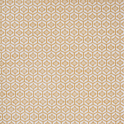 B5877 Toast Fabric: D60, COTTON, WHITE AND GOLD, FLORAL GEOMETRIC, CHAIR SCALE, WHITE AND YELLOW,WOVEN