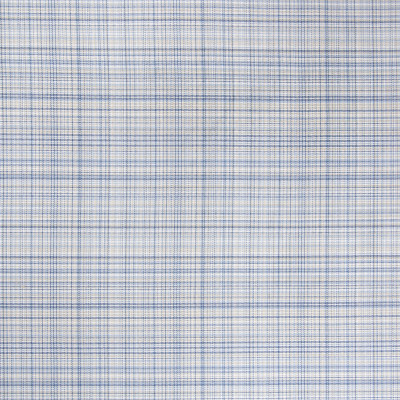 B5892 Cabana Fabric: D60, MADE IN USA, BLUE AND TAN, SMALL CHECK, PLAID,WOVEN