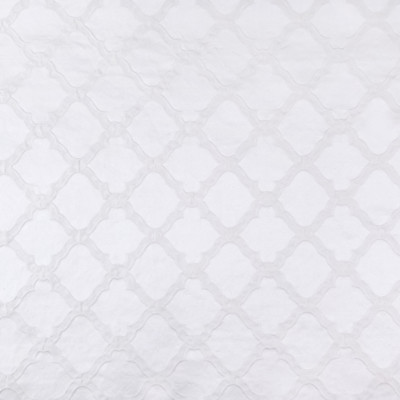 B5936 White Fabric: D61, LATTICE, COTTON, OGEE, WASHABLE, PRE-WASHED, PRE-SHRUNK, MACHINE WASHABLE