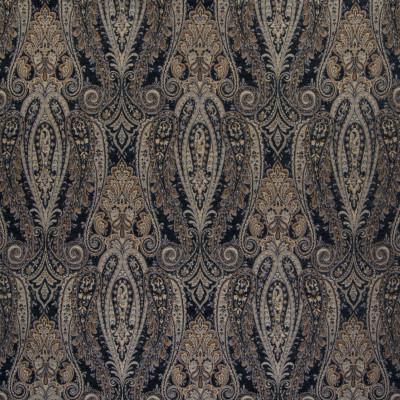 B6009 Midnight Fabric: D62, BLACK PAISLEY, BLACK CHENILLE PAISLEY, LARGE SCALE PAISLEY, LARGE SCALE MEDALLION, LARGE SCALE SCROLL