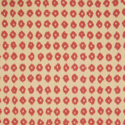 B6054 Persimmon Fabric: D62, RED DOT, RED POLKA DOT, RED DOT IKAT, RED ANIMAL SKIN PRINT, IKAT PRINT, COTTON IKAT PRINT