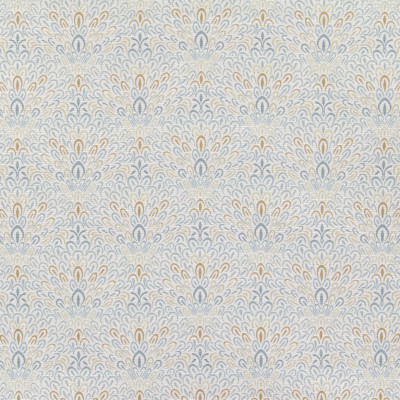 B6174 Mist Fabric: D64, CONTEMPORARY FLORAL, LARGE SCALE FLORAL, SPA BLUE FLORAL