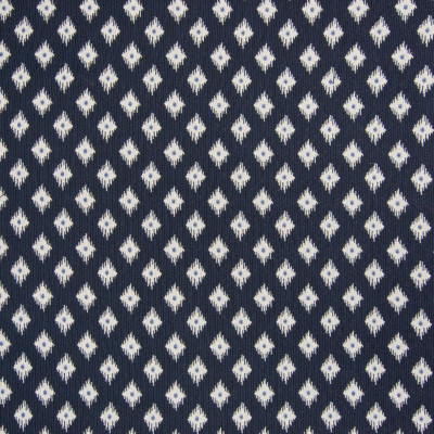 B6196 Navy Fabric: D64, NAVY DIAMOND IKAT, NAVY IKAT, NAVY DIAMOND, SMALL SCALE GEOMETRIC, SMALL SCALE DOT