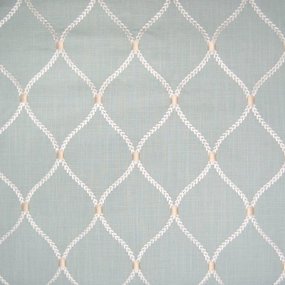 B6222 Shore Fabric: S34, WINDOW, ANNA ELISABETH, DRAPERY, EMBROIDERY, OGEE, OGEE EMBROIDERY, MEDALLION, MEDALLION EMBROIDERY, LATTICE, LATTICE EMBROIDERY, GEOMETRIC, GEOMETRIC EMBROIDERY, TEAL MEDALLION, TEAL EMBROIDERY, TEAL LATTICE, TEAL GEOMETRIC, TEAL OGEE, TEAL