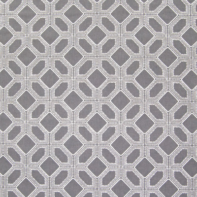 B6292 Slate Fabric: D66, DARK GRAY, PEWTER, CHARCOAL GRAY, GREY, GRAY EMBROIDERY, GEOMETRIC EMBROIDERY, LATTICE EMBROIDERY, GRAY AND WHITE, GREY AND WHITE, COTTON EMBROIDERY