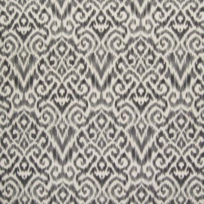 B6314 Zinc Fabric: D66, DURABLE, COTTON, LINEN, COTTON LINEN BLEND, COTTON PRINT, LINEN PRINT, BLACK AND WHITE IKAT, IKAT PRINT, LINEN IKAT PRINT, GLOBAL, PATTERN, PRINT,WOVEN