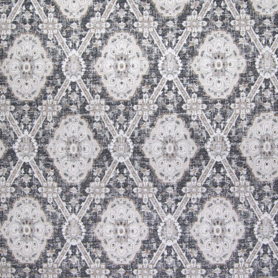 B6318 Onyx Fabric: D66, DURABLE, COTTON, JACQUARD PATTERN, BLACK PATTERN, BLACK, GLOBAL, ETHNIC, TRIBAL, MEDALLION JACQUARD, MEDALLION PATTERN, DIAMOND MEDALLION PATTERN,LATTICE