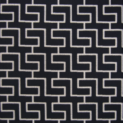 B6320 Solstice Fabric: D66, COTTON, BLACK AND SILVER, METALLIC EMBROIDERY, METALLIC THREAD, GEOMETRIC EMBROIDERY,WOVEN