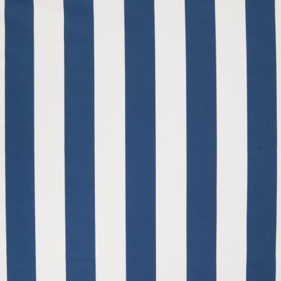 B6353 Cobalt Fabric: D67, MADE IN USA, 100% COTTON, BLUE AND WHITE STRIPE, CLASSIC BLUE AND WHITE STRIPE, BLUE AND WHITE COTTON PRINT, 100% COTTON PRINT, LARGE SCALE STRIPE, ROYAL BLUE