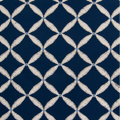 B6375 Pool Fabric: D67, COTTON, EMBROIDERED, MEDALLION EMBROIDERY, LATTICE, ROPE EMBROIDERY, NAVY BLUE, COTTON EMBROIDERY, LARGE SCALE EMBROIDERY,WOVEN