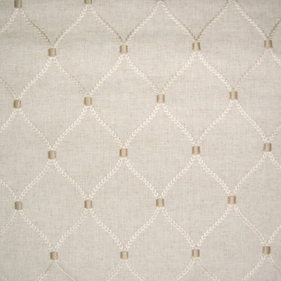 B6394 Flax Fabric: D68, NATURAL EMBROIDERY, NEUTRAL EMBROIDERY, MEDALLION EMBROIDERY, LATTICE EMBROIDERY