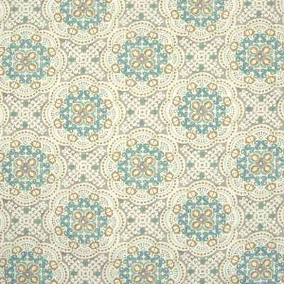 B6623 Nordic Fabric: D72, BLUE MEDALLION PRINT, BLUE COTTON PRINT, SPA BLUE COTTON PRINT, SKY BLUE COTTON PRINT,