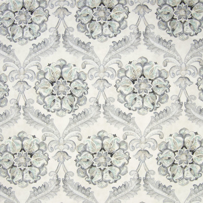 B6639 Icicle Fabric: D72, GRAY FLORAL, LARGE SCALE FLORAL, LARGE SCALE SUZANI, CONTEMPORARY PRINT, FLORAL PRINT, SUZANI PRINT