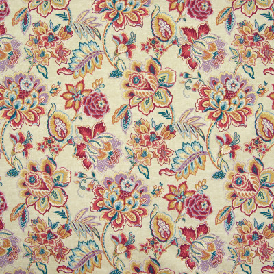B6649 Masala Fabric: D72, LARGE SCALE FLORAL PRINT, LARGE SCALE FLORAL, COTTON PRINT, RED FLORAL PRINT, MULTICOLORED FLORAL PRINT