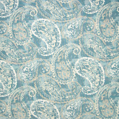 B6692 Mineral Fabric: D73, LARGE SCALE PAISLEY, LARGE SCALE SCROLL, PAISLEY PRINT, SCROLL PRINT, VINTAGE PRINT, SPA BLUE PRINT