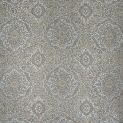 B6701 Glacier Fabric: D73, LARGE SCALE MEDALLION, LARGE SCALE GEOMETRIC, CARPET MEDALLION, CARPET PATTERN, VINTAGE MEDALLION, METALLIC MEDALLION, ASIAN MEDALLION