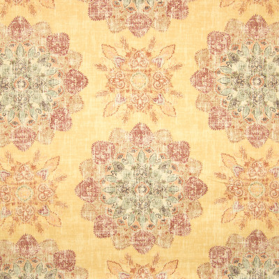B6806 Curry Fabric: COTTON PRINT, MEDALLION PRINT, DISTRESSED PRINT, SOUTHWEST, MADE IN THE USA