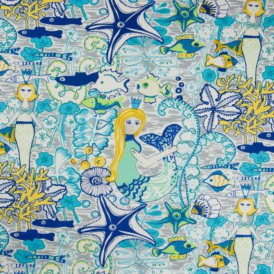 B6828 Swift Fabric: MERMAID PRINT, KIDS FABRIC, JUVENILE PRINT, COTTON PRINT, UNDER THE SEA