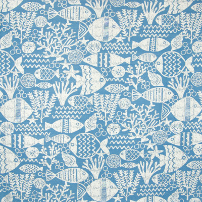 B6870 Ocean Fabric: D79, OUTDOOR, BLUE FISH, LIGHT BLUE FISH, SKY BLUE FISH, NOVELTY BEACH, OUTDOOR BEACH, SEASHELL