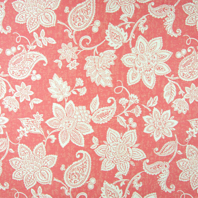 B6885 Rose Red Fabric: D79, OUTDOOR, RED FLORAL, JACQUARD FLORAL, OUTDOOR FLORAL, OUTDOOR FLOWERS