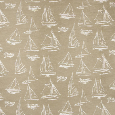 B6889 Raffia Fabric: D79, OUTDOOR, SAILBOAT, NOVELTY BOATS, LANDSCAPE, OUTDOOR SEASCAPE, MARITIME, BOAT, SAILING