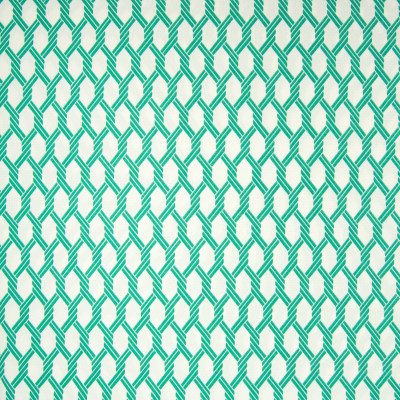 B6911 Emerald Fabric: D80, OUTDOOR, NAUTICAL LATTICE, AQUA, GREEN, EMERALD GREEN LATTICE, GEOMETRIC, NAUTICAL ROPE