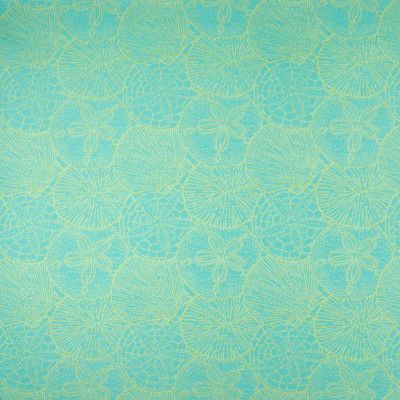 B6916 Turquoise Fabric: D80, OUTDOOR, SEASHELL, SANDDOLLAR, TEAL, AQUA, LIME GREEN, MULTICOLORED JACQUARD, BEACH, TROPICAL