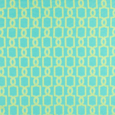 B6919 Seaglass Fabric: D80, OUTDOOR, TURQUOISE, TEAL, LATTICE, TEAL LATTICE, TURQUOISE GEOMETRIC, ACID GREEN, GREEN TEAL, SEAGLASS