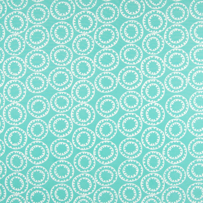 B6924 Turquoise Fabric: D80, OUTDOOR, OUTDOOR SUZANI, CIRCLES, OUTDOOR PERFORMANCE FABRIC, TEAL, TURQUOISE,WOVEN