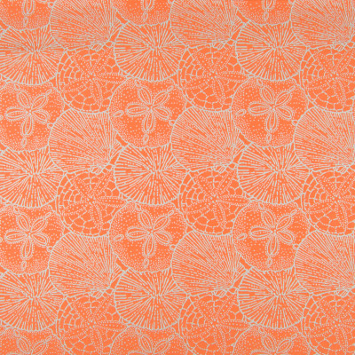 B6960 Sahara Fabric: D80, OUTDOOR, SANDDOLLAR, BEACH, TROPICAL, TANGERINE, ORANGE, OUTDOOR FABRIC, PERFORMANCE FABRIC