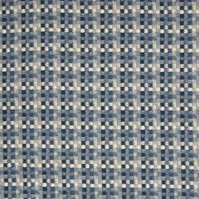 B7112 Indigo Fabric: D86, D83, CHECK, CHECKERS, COTTON PRINT, GEOMETRIC PRINT