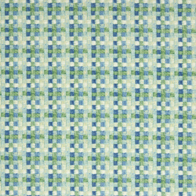 B7142 Aqua Fabric: D86, D84, CHECKER, CHECK PRINT, GEOMETRIC PRINT, COTTON PRINT