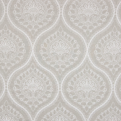B7198 Sand Fabric: D87, D85, ROPE EMBROIDERY, NEUTRAL FLORAL EMBROIDERY, CREWEL, BEIGE FLORAL EMBROIDERY, SCROLL EMBROIDERY