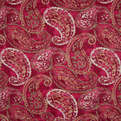 B7220 Passion Fabric: D86, LARGE SCALE PAISLEY PRINT, COTTON PRINT, PAISLEY PRINT, RED PAISLEY, VINTAGE PAISLEY PRINT