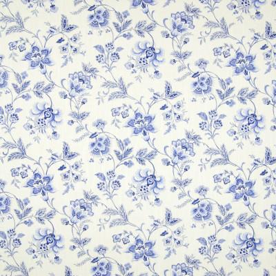 B7228 Porcelain Fabric: D86, PURPLE FLORAL PRINT, DARK BLUE FLORAL PRINT, BLUE-ISH PURPLE FLORAL PRINT, COTTON PRINT