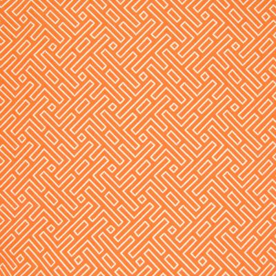 B7284 Orange Fabric: D88, GREEK KEY, WOVEN GEOMETRIC, CHAIR SCALE GEOMETRIC, ORANGE, MANDARIN, TANGERINE