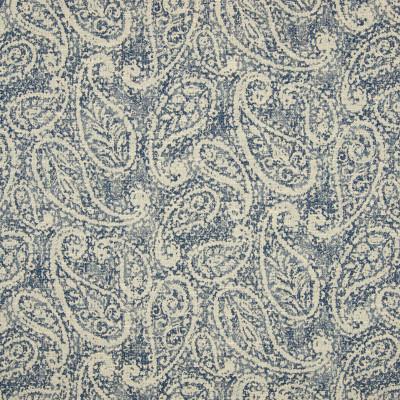 B7402 Indigo Fabric: D92, LARGE SCALE PAISLEY, JACQUARD PAISLEY, LARGE SCROLL, BLUE PAISLEY, DENIM PAISLEY, VINTAGE PAISLEY