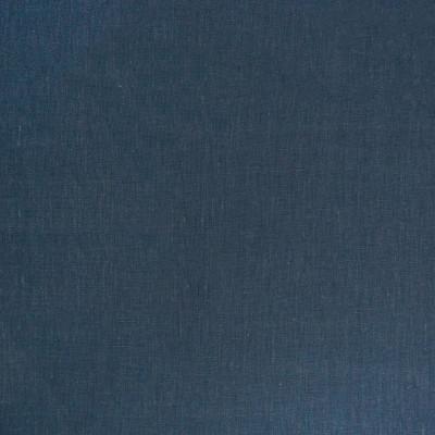 B7414 Cobalt Fabric: D92, SOLID LINEN, BLUE LINEN, WOVEN LINEN, 100% LINEN, DARK BLUE LINEN, DENIM COLORED LINEN