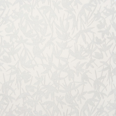 B7463 Dove Fabric: D93, LIGHT SILVER FLORAL, LIGHT SILVER FOLIAGE, SMALL SCALE FLORAL, SMALL SCALE LEAF PATTERN, ASIAN PATTERN