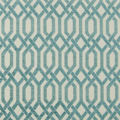 B7603 Turquoise Fabric: E40, D95, CHAIR SCALE GEOMETRIC, CHAIR SCALE LATTICE, TEAL LATTICE, TURQUOISE LATTICE, AQUA GEOMETRIC, WOVEN