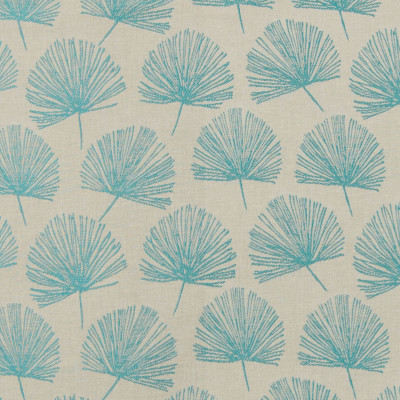 B7604 Peacock Fabric: E40, D95, CHAIR SCALE FLORAL, CHAIR SCALE FAN, FLORAL, FOLIAGE, DECORATIVE FLORAL, AQUA, TEAL, TURQUOISE, SHELL, WOVEN