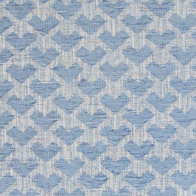 B7613 Waterfall Fabric: D95, BLUE GEOMETRIC, CHAIR SCALE GEOMETRIC, ARROW, MEDIUM BLUE GEOMETRIC