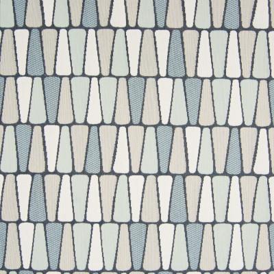 B7623 Robins Egg Fabric: D95, MEDIUM SCALE GEOMETRIC, CONTEMPORARY GEOMETRIC, BLUE GEOMETRIC, BLUE WOVEN GEOMETRIC